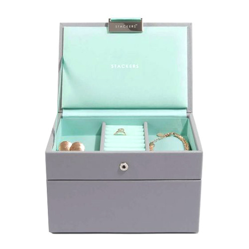73664 DOVE GREY & MINT | MINI SET OF 2 STACKERS