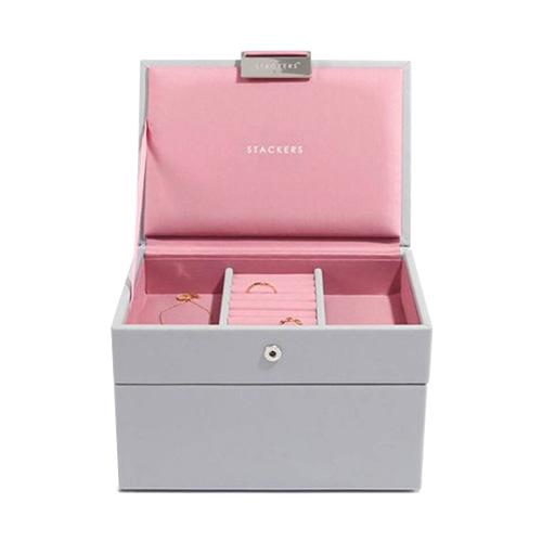 Stackers Šperkovnice Stacker Šedá/růžová   Jewellery Box Set Mini