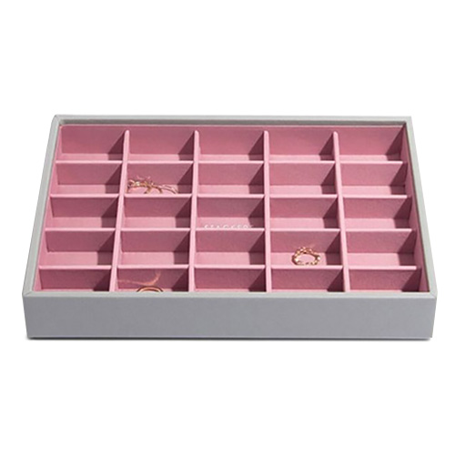 Patro šperkovnice Stackers Šedá/růžová | Jewellery Box Layers Classic