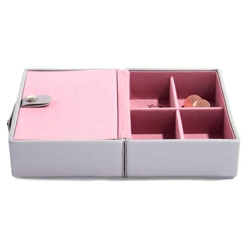 Cestovní šperkovnice Stackers Šedá/růžová, Travel Jewellery Box