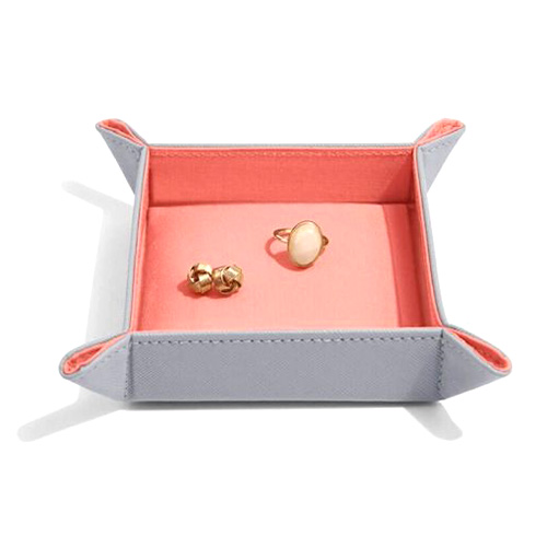 73608 DOVE GREY & CORAL | STACKERS CATCHALL ACCESSORY