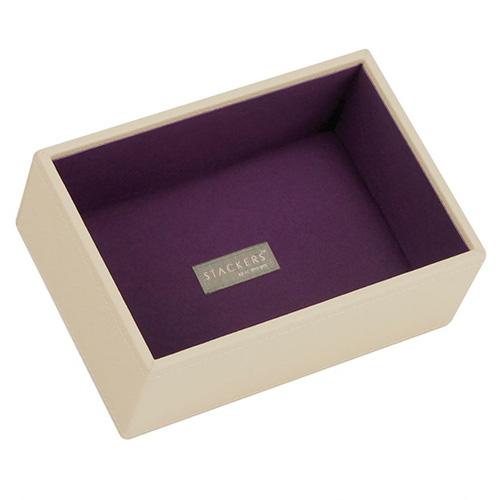 Patro šperkovnice Stackers Krémová/purpurová | Jewellery Box Layers Mini