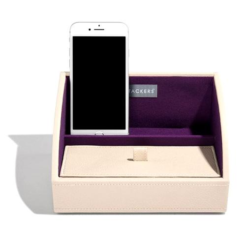 Šperkovnice Stackers Krémová/purpurová | Jewellery Box Layers Mini