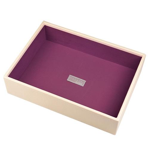 Patro šperkovnice Stackers Krémová/purpurová | Jewellery Box Layers Classic
