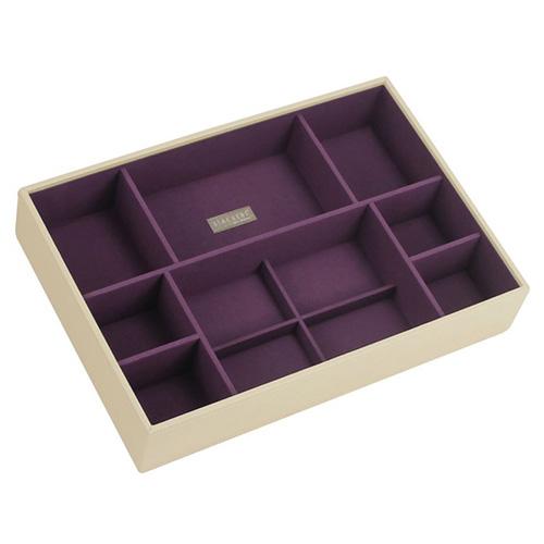 Patro šperkovnice Stackers Krémová/purpurová | Jewellery Box Layers Supersize