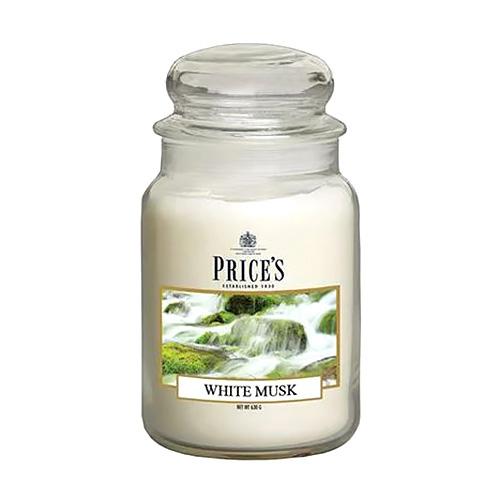 Price's Candles Svíčka ve skleněné dóze Price´s Candles Bílé pižmo, 630 g