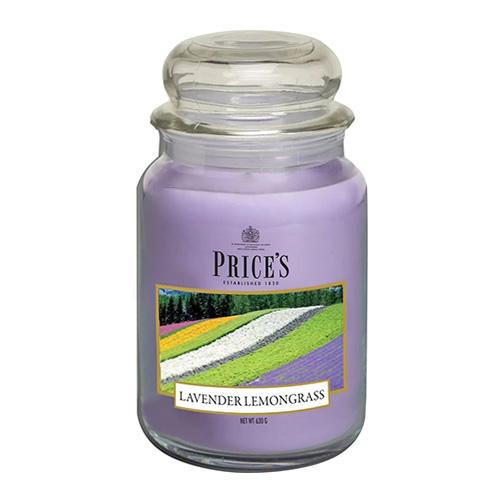 Price's Candles Svíčka ve skleněné dóze Price´s Candles Levandule a citronová tráva, 630 g