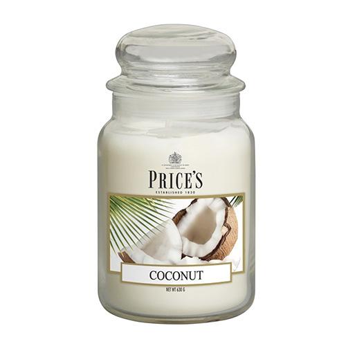 Price's Candles Svíčka ve skleněné dóze Price´s Candles Kokos, 630 g