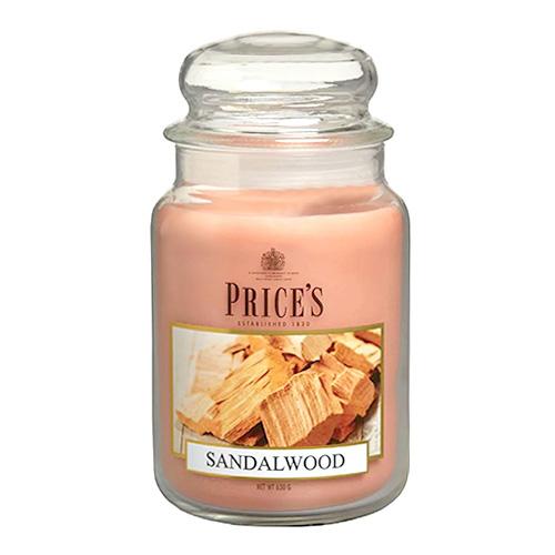 Price's Candles Svíčka ve skleněné dóze Price´s Candles Santalové dřevo, 630 g