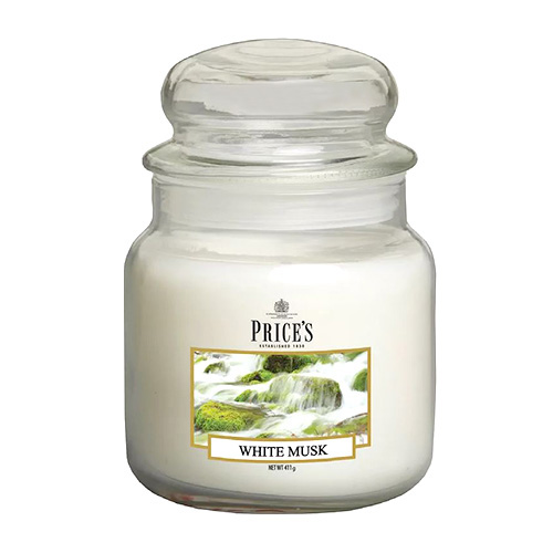 Price's Candles Svíčka ve skleněné dóze Price´s Candles Bílé pižmo, 411 g
