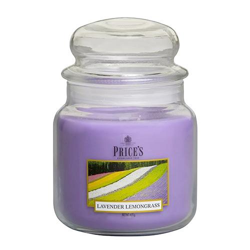 Price's Candles Svíčka ve skleněné dóze Price´s Candles Levandule a citronová tráva, 411 g