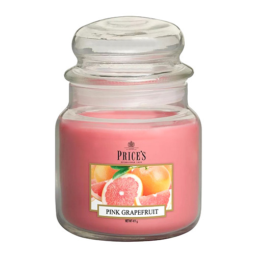Price's Candles Svíčka ve skleněné dóze Price´s Candles Růžový grapefruit, 411 g