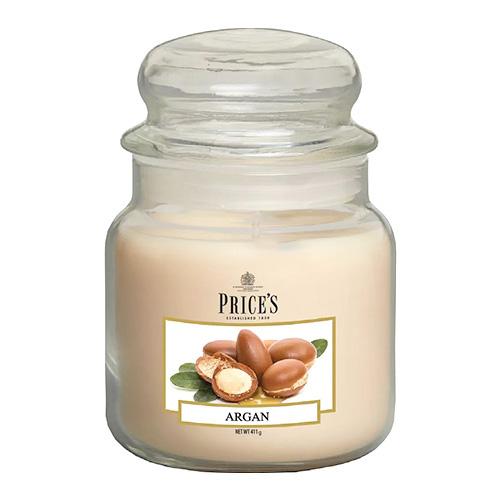 Price's Candles Svíčka ve skleněné dóze Price´s Candles Argan, 411 g