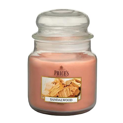 Price's Candles Svíčka ve skleněné dóze Price´s Candles Santalové dřevo, 411 g