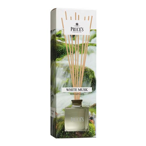 Price's Candles Rákosový difuzér Price´s Candles Bílé pižmo, 100 ml