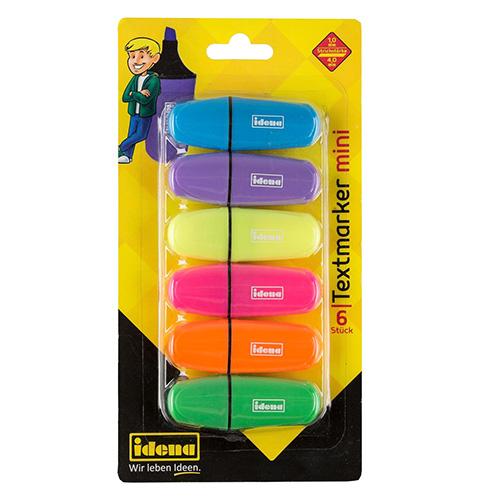 Zvýrazňovače Idena Mini, 6 barev