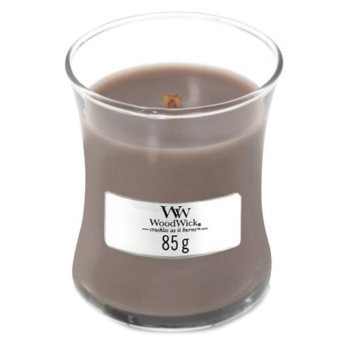 Svíčka oválná váza WoodWick Černá ambra a citrus, 85 g