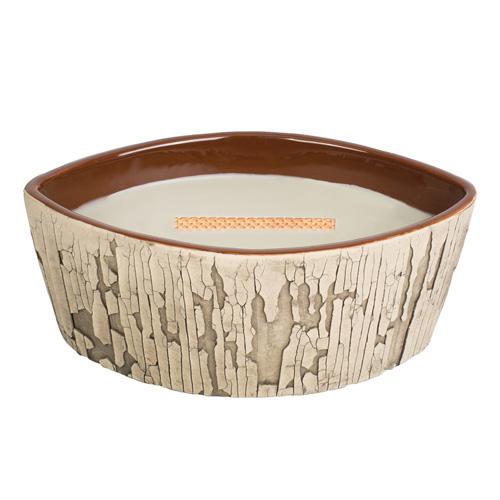 Svíčka keramická dekorativní váza WoodWick Oheň v krbu, 425.2 g
