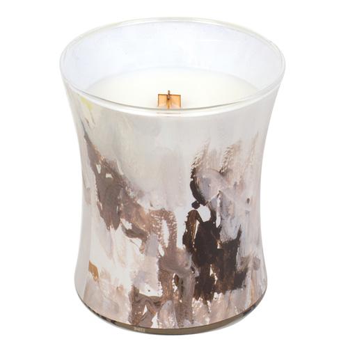 Svíčka oválná váza WoodWick Medový tabák, 275 g