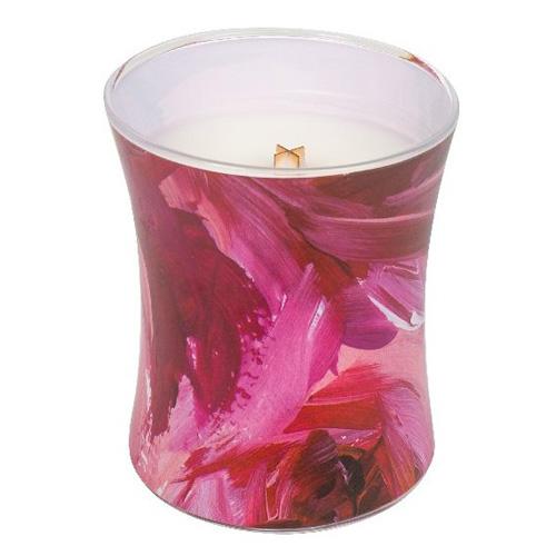 Svíčka oválná váza WoodWick Červený rybíz a cedr, 275 g