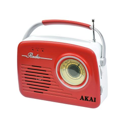 Rádio Akai 9204486 | APR-11R RED, v retro stylu