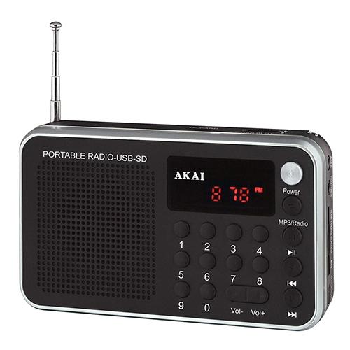 Digitální rádio Akai 9204500 | DR002A-521 BLACK, FM PLL