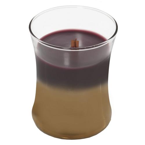 Svíčka oválná váza WoodWick Tmavý mák, 275 g