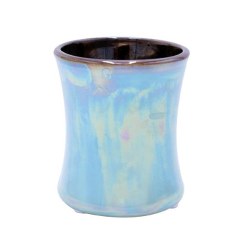 Svíčka keramická oválná váza WoodWick Fíkový list a tuberóza, 133.2 g