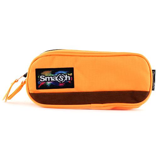 Školní penál bez náplně Smash Oranžový s hnědým pruhem