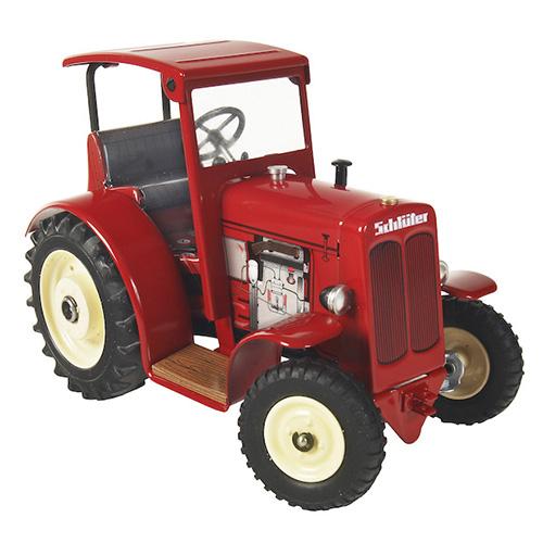 Kovap Traktor Schlüter DS 25 se střechou, šedivý Traktor Schlüter DS 25 se střechou, červený