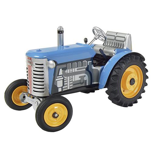 Kovap Traktor Zetor modrý, žluté kov. disky