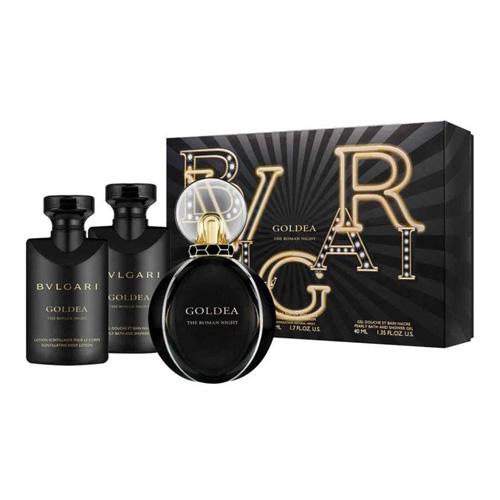 Dárková sada Bvlgari Goldea The Roman Night, EDP 50 ml, sprchový gel 40 ml, tělov