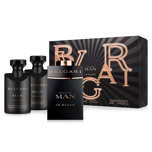 Dárková sada Bvlgari Man In black, EDP 60 ml, sprchový gel 40 ml, balzám po holen
