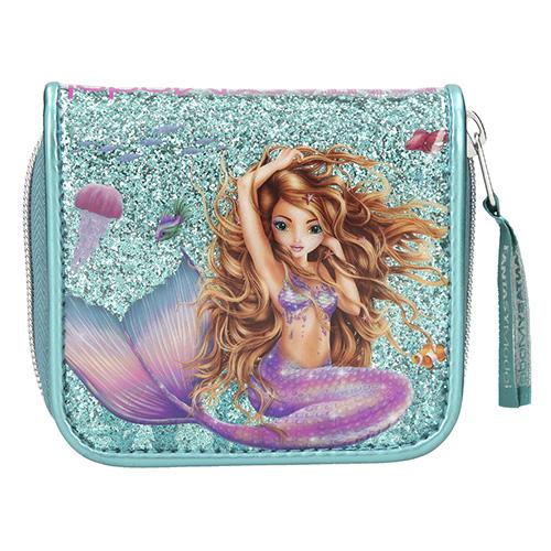 Peněženka Fantasy Model Mořská panna, tyrkysová s flitry