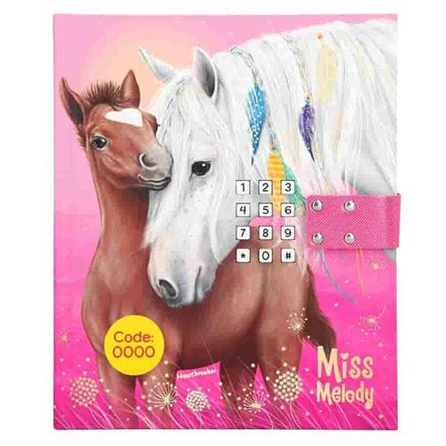 Diář Miss Melody Miss melody a Heartbreaker, růžový