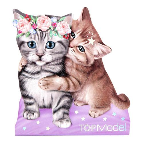 Poznámkový blok Top Model ASST Dvě kočičky