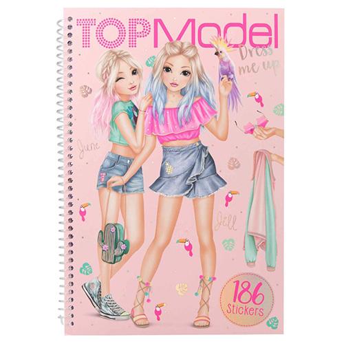 Kreativní sešit Top Model June a Jill, Obleč mě, růžový