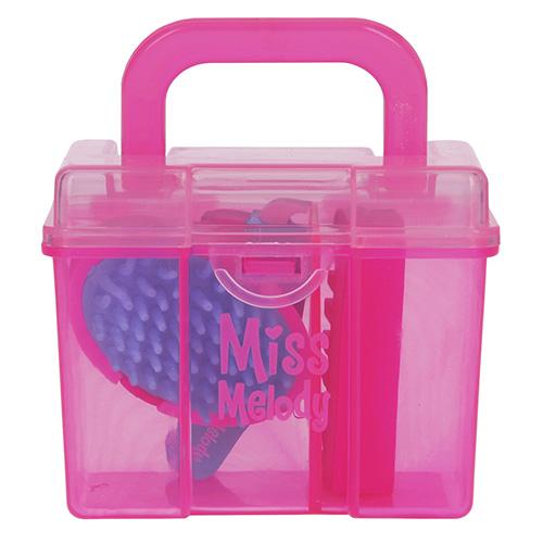Gumovací pryž Miss Melody ASST Růžový box, 3 ks