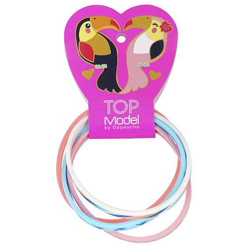 Náramky Top Model ASST Love, růžový, bílý, oranžový, modrý