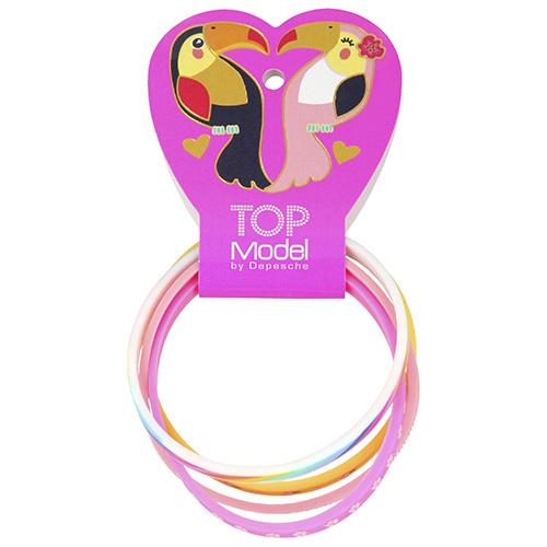 Náramky Top Model ASST Happy, růžový, fialový, bílý, oranžový