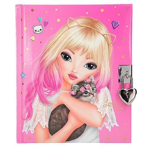 Deníček se zámkem Top Model Louise a Tiger, růžový