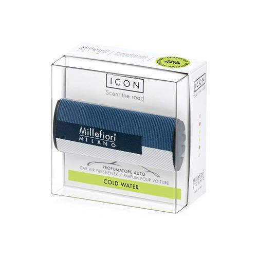 Vůně do auta Millefiori Milano Icon, Textile Geometric/Chladná voda, modro-bílá