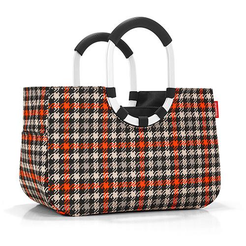 Nákupní taška Reisenthel Černo-červená s motivem padesátek | loopshopper M