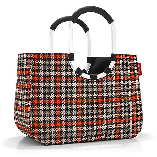 Nákupní taška Reisenthel Černo-červená s motivem padesátek | loopshopper L