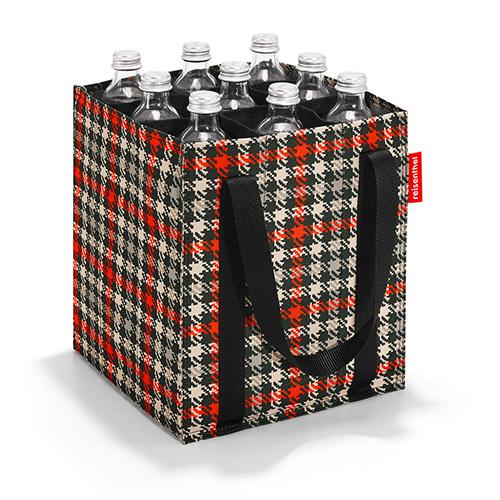 Taška na láhve Reisenthel Černo-červená s motivem padesátek| bottlebag