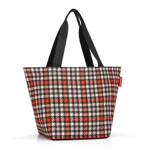 Nákupní taška Reisenthel Černo-červená s motivem padesátek | shopper M