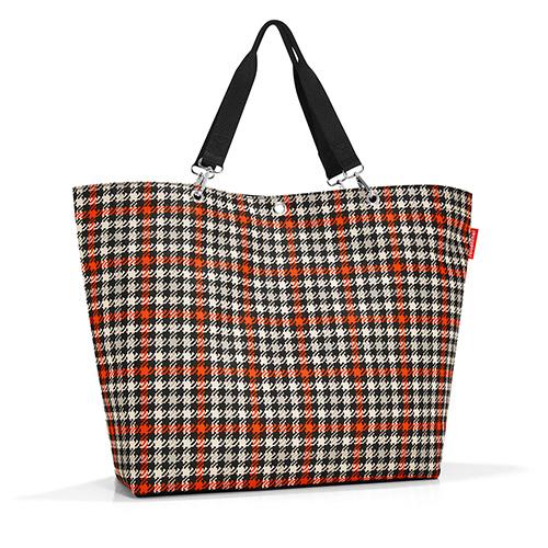 Nákupní taška Reisenthel Černo-červená s motivem padesátek | shopper XL