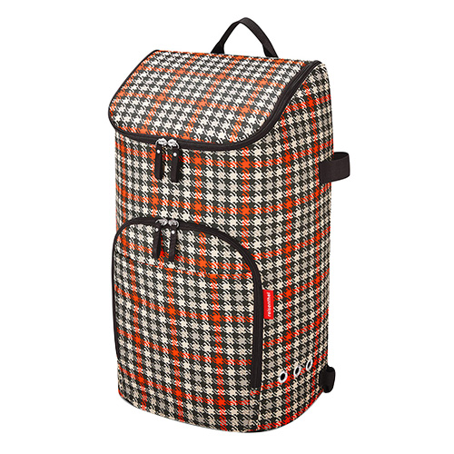 Nákupní batoh Reisenthel Černo-červený s motivem padesátek | citycruiser bag