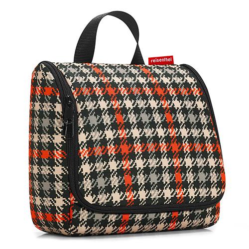 Cestovní toaletní taška Reisenthel Černo-červená s motivem padesátek | toiletbag