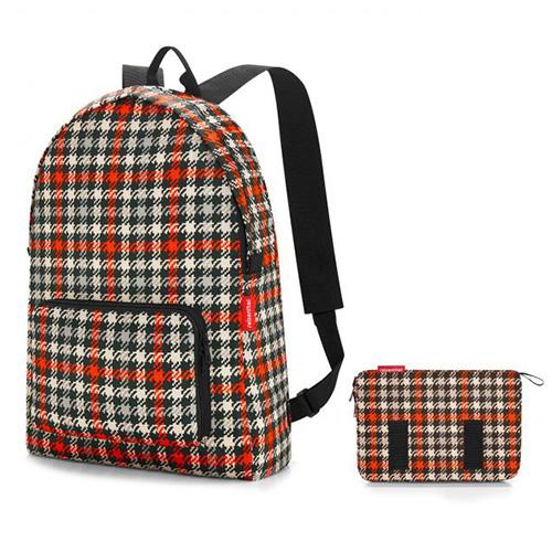 Batoh Reisenthel Černo-červený s motivem padesátek | mini maxi rucksack